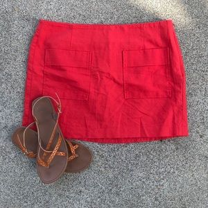 GAP mini red skirt size 14 with pockets sooo cute